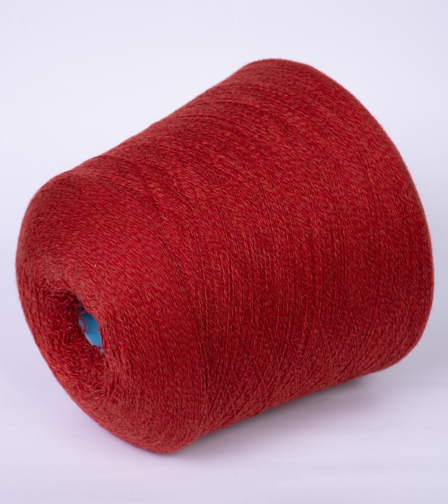 Biagioli modesto  micromelange красный кирпич мулине - Итальянская пряжа